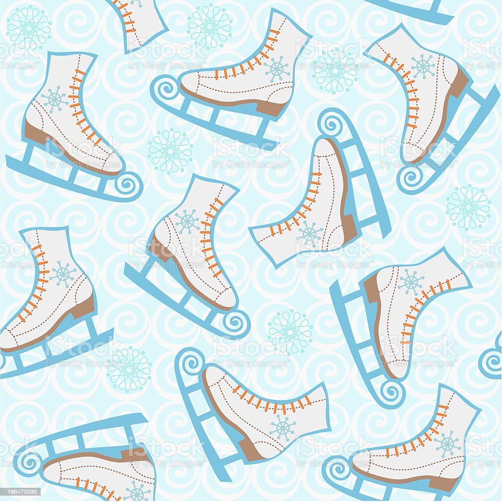 Skates background royalty-free stock vector art