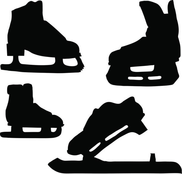 Best Vintage Hockey Skates Illustrations, Royalty-Free ...
