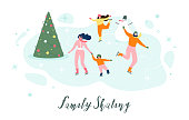 Web site onboarding screens. Winter sport, ice hockey, snowboarding, biathlon and figure skating. Menu vector banner template for website and mobile app development. Modern design linear art flat illustration
