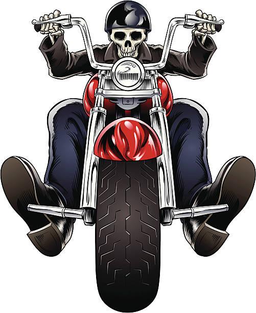 Skel Rider vector art illustration