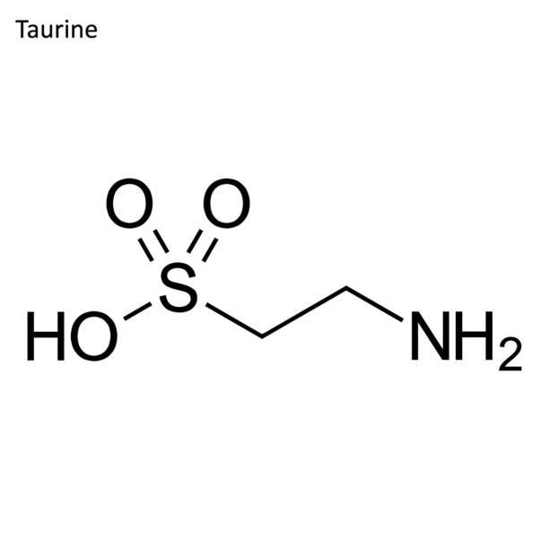 Skeletal formula of Taurine Skeletal formula. Amino acid molecule amino acid stock illustrations