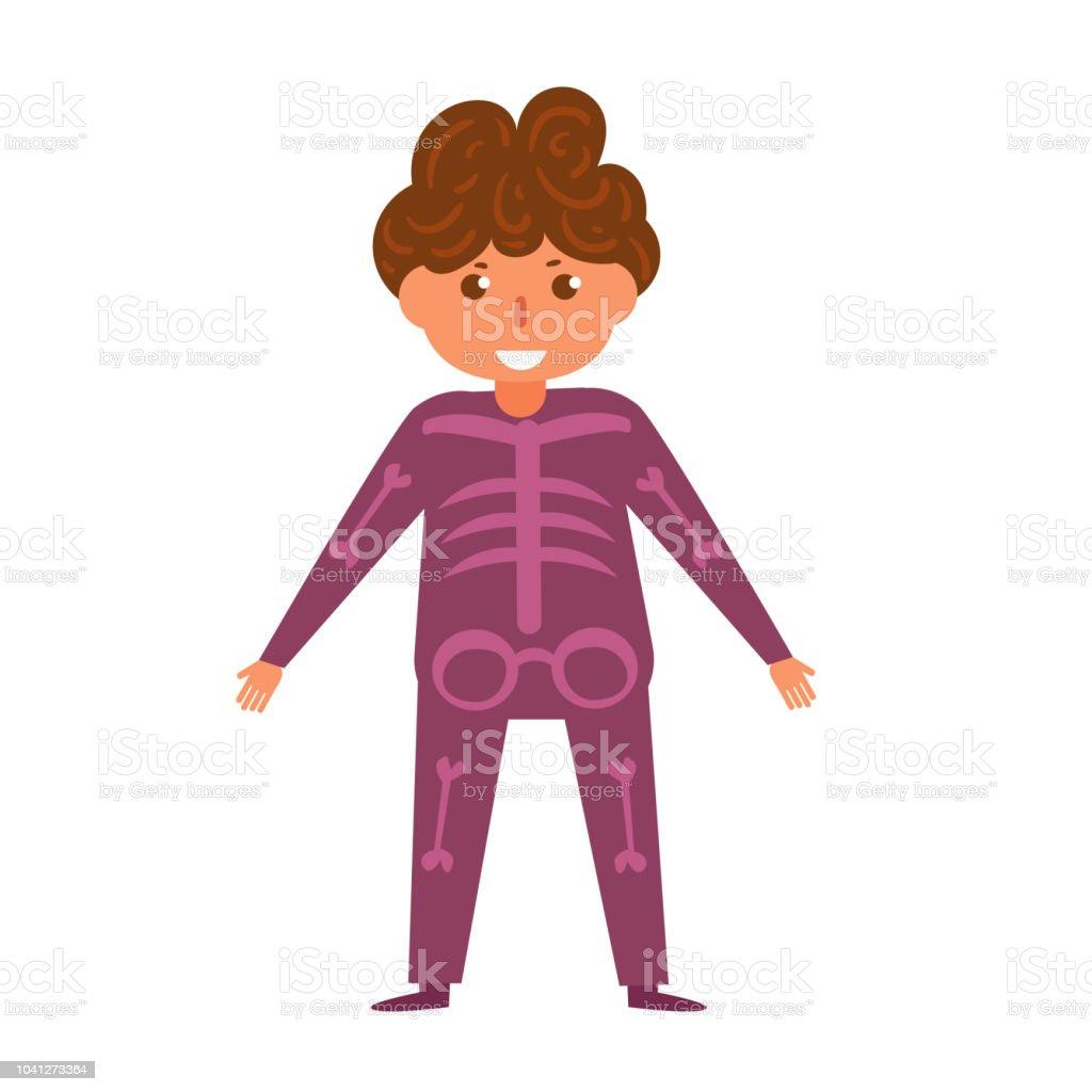 skeleton childrens halloween costume vector cartoon isolated art o royalty free skeleton childrens