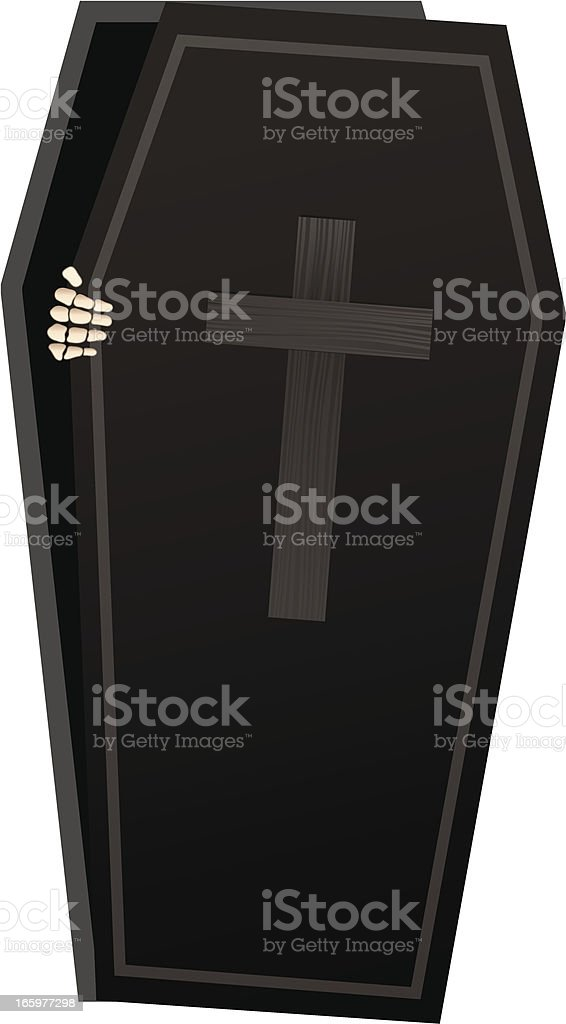Skeleton Coffin royalty-free stock vector art
