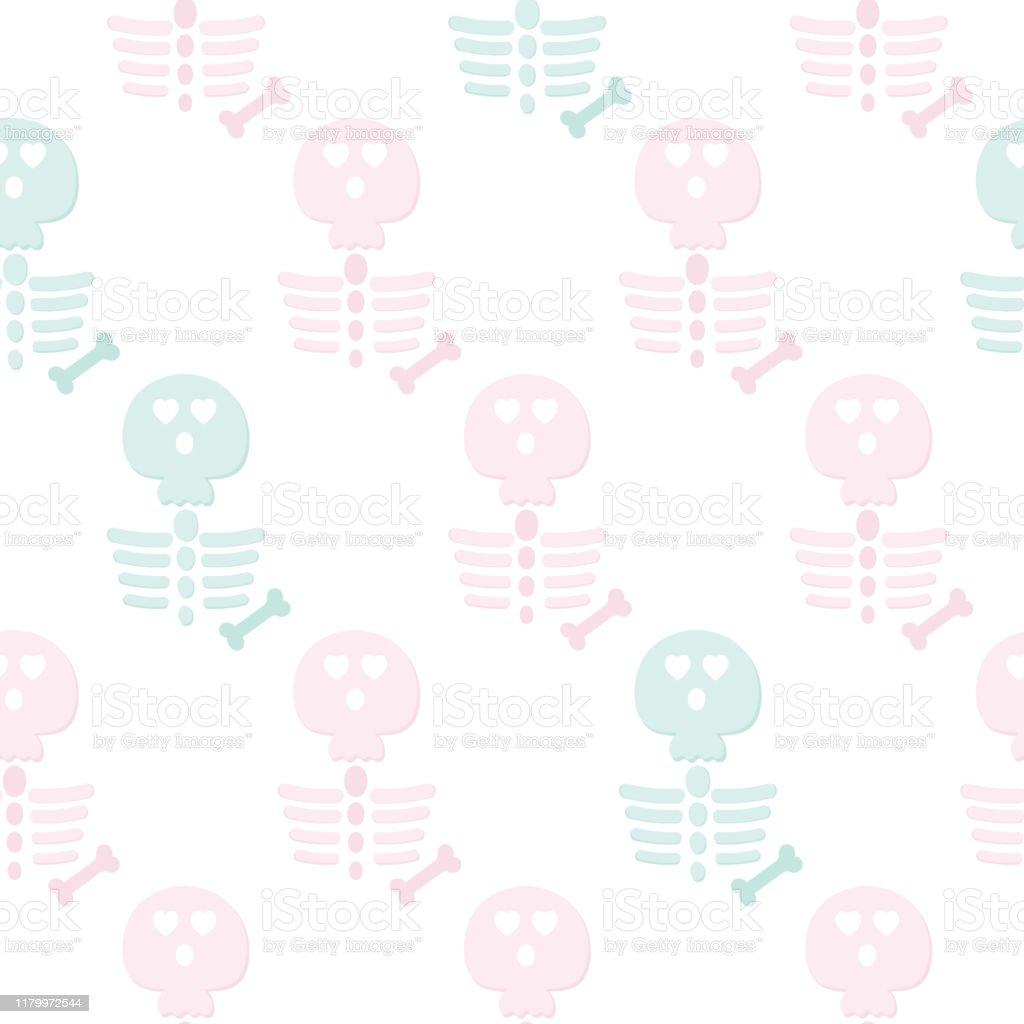 スケルトンハロウィーンシームレスパターンかわいい壁紙休日のカバー