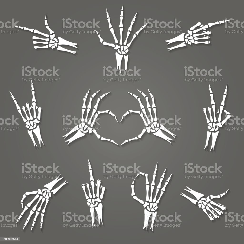 Skeleton hand signs