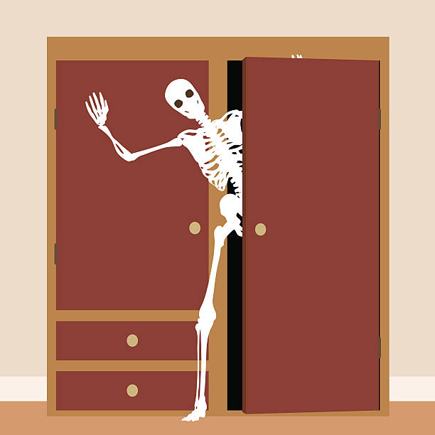Royalty free skeleton in my cupboard clip art vector for Similar a privalia