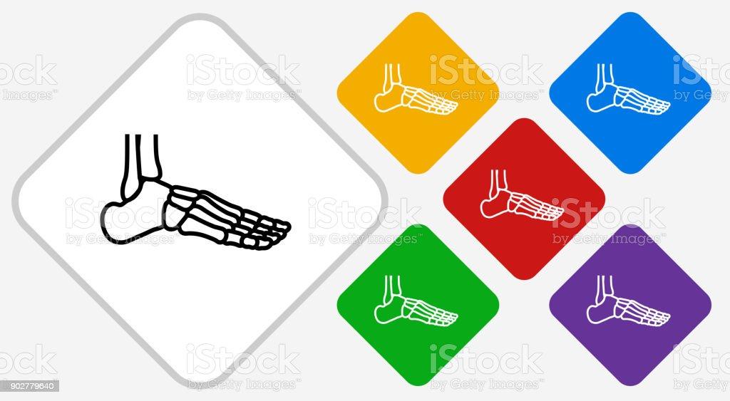 Esqueleto Pierna Color Diamante Vector Icono - Arte vectorial de ...