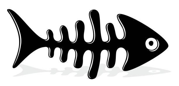 魚の骨ます。 - 魚の骨点のイラスト素材/クリップアート素材/マンガ素材/アイコン素材