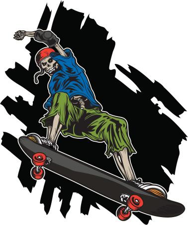 Skeleton Skateboarder