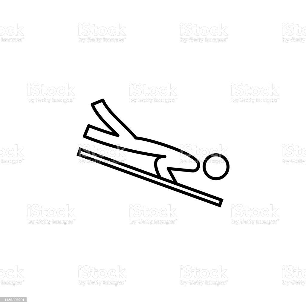 skeleton, sport, winter outline icon. Element of winter sport...