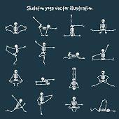 Skeleton yoga vector illustration