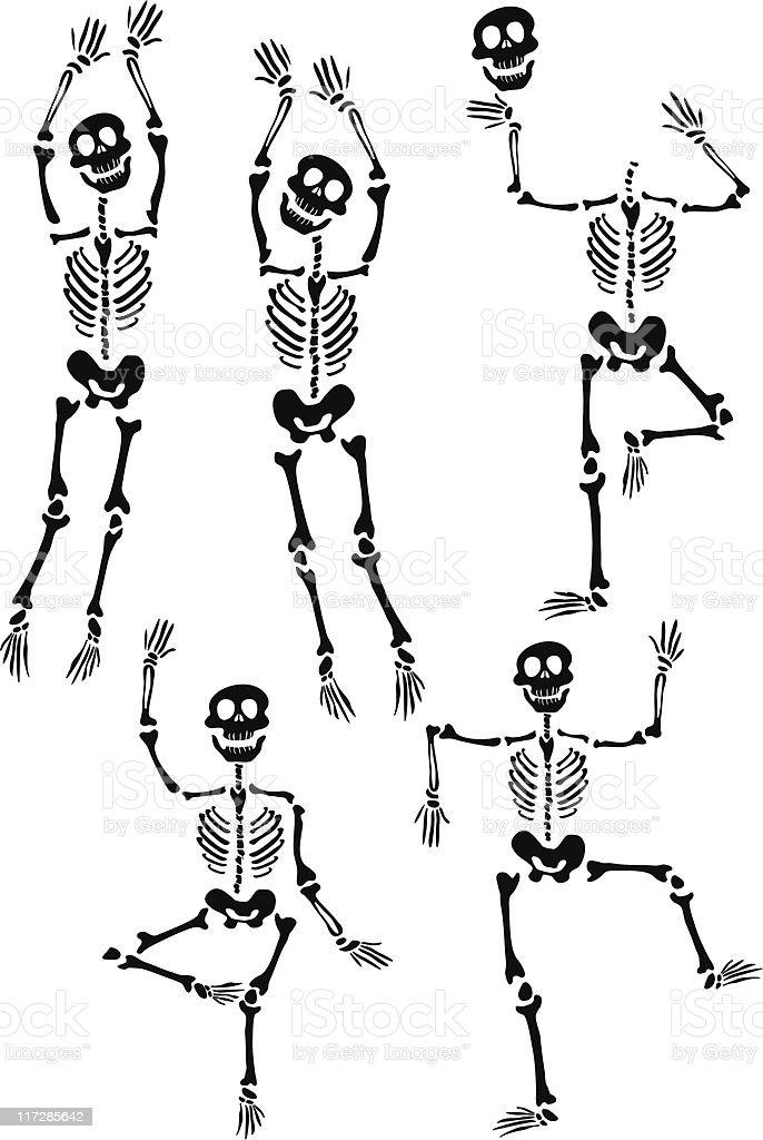 Skeleton03 royalty-free stock vector art