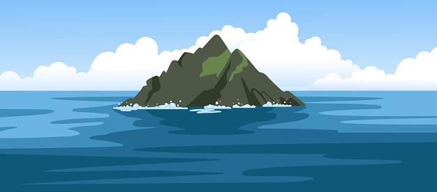 Skellig michael irish rock. Skellig Islands, County Kerry.