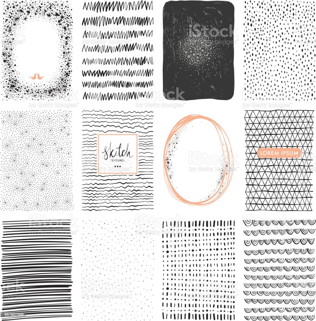 Sketch Backgrounds_02 vector art illustration