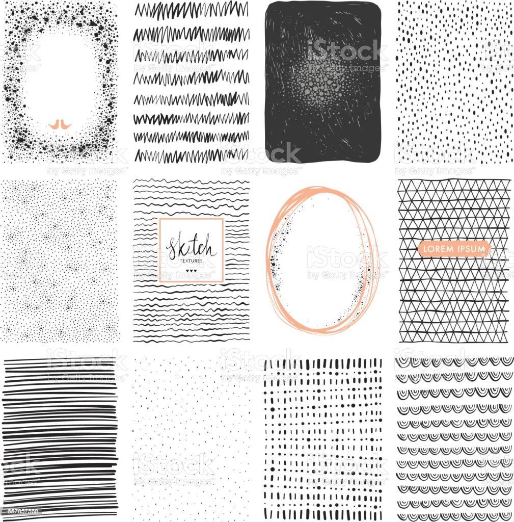 Sketch Backgrounds_02 – Vektorgrafik