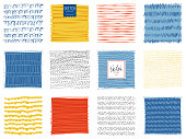 Set of abstract square backgrounds. Vector illustration.