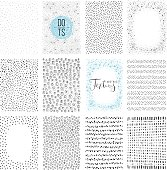 Set of scribble backgrounds and abstract textures. Use for posters, art prints, greeting and business cards, banners, labels, book covers and other graphic designs.