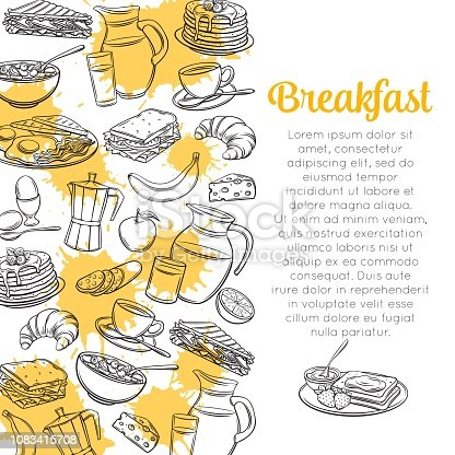 istock Sketch Breakfast Layout 1083415708