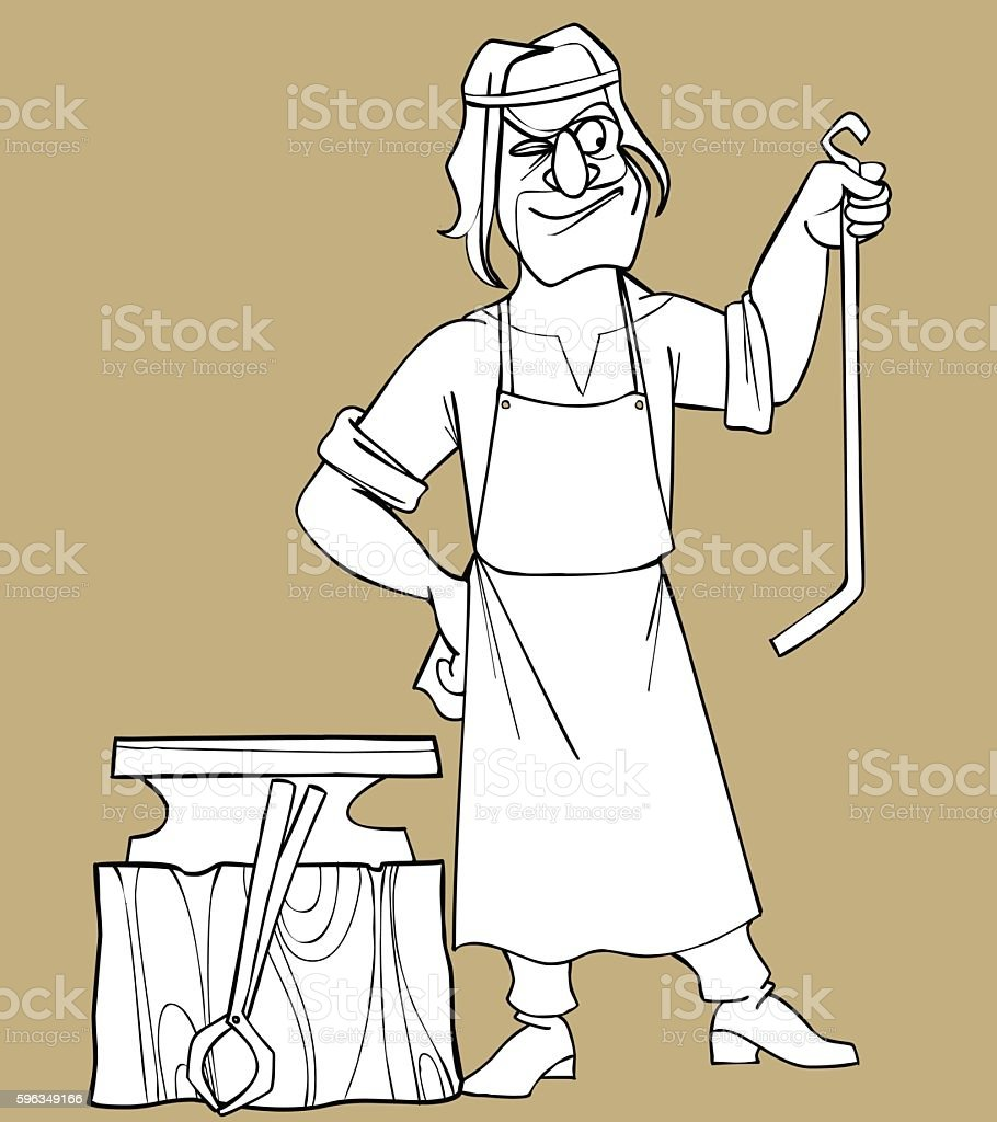 sketch cartoon fabulous man blacksmith royalty-free sketch cartoon fabulous man blacksmith stock vector art & more images of adult