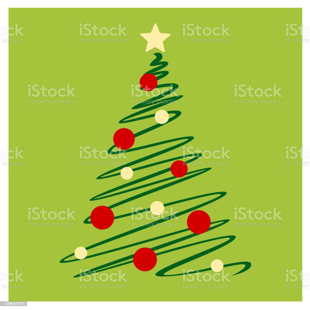 Skizze-Weihnachtsbaum - Lizenzfrei Baum Vektorgrafik