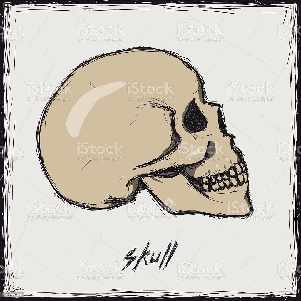 Ilustración de Ilustración De Dibujo De Color Señal De Pare Cráneo y ...