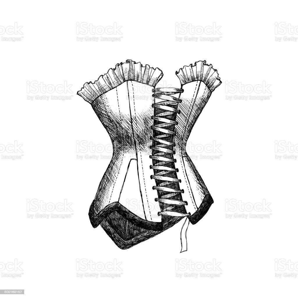 Ilustración de Boceto Corsé y más banco de imágenes de Alta costura ...