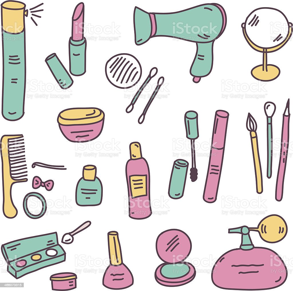 sketch cosmetics stock vector art amp more images of adult