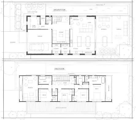 Sketch Design Floor Plan of 2 Storey Home