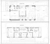 istock Sketch Design Floor Plan of 2 Storey Home 1284990046