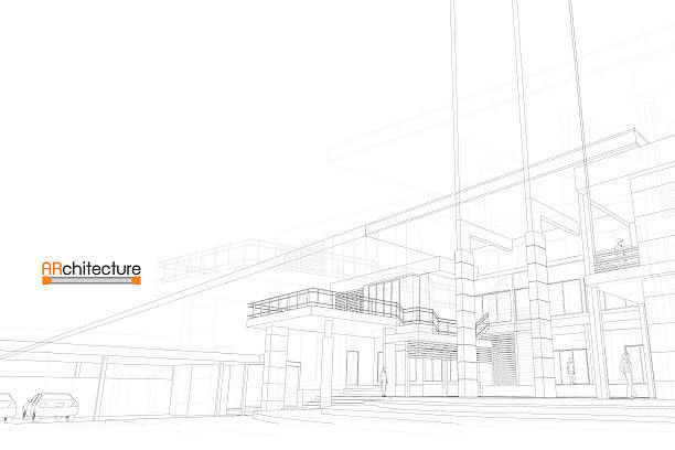 sketch design of house,vector - architect stock illustrations, clip art, cartoons, & icons