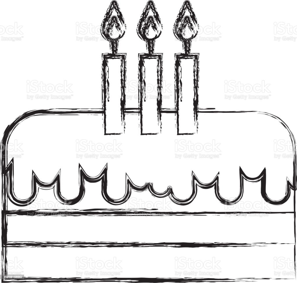 Incredible Sketch Draw Birthday Cake Cartoon Stock Illustration Download Personalised Birthday Cards Paralily Jamesorg