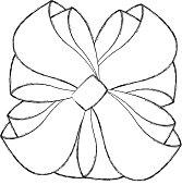 sketch draw christmas bow cartoon