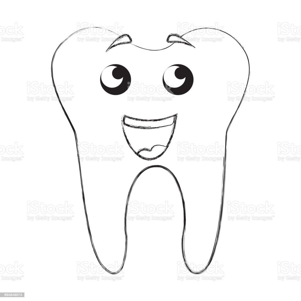 Skizze Zu Zeichnen Zahn Cartoon Stock Vektor Art und mehr Bilder von ...