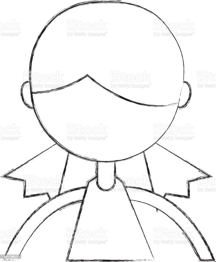 Skizze Zu Zeichnen Oberkorper Madchen Cartoon Stock Vektor Art Und