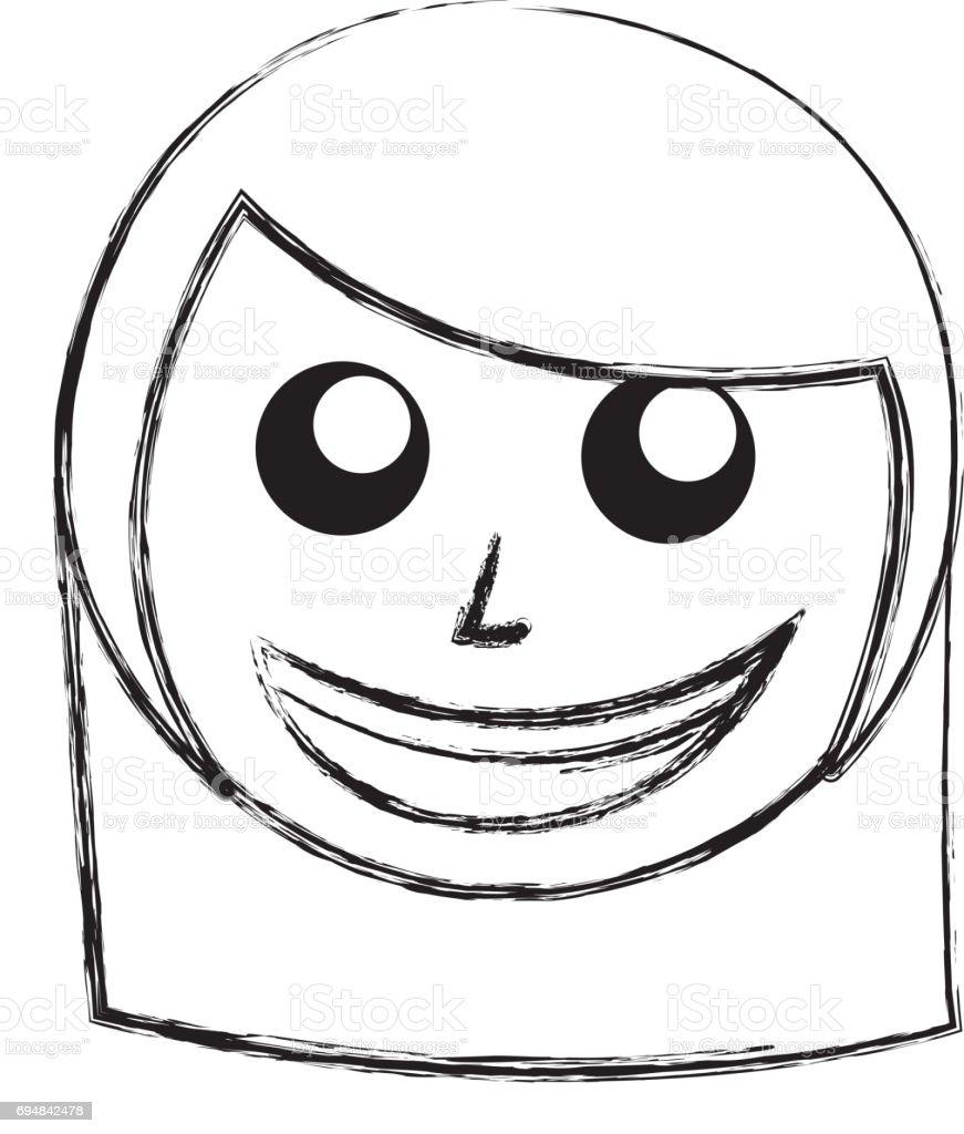 Skizze Zeichnen Frauen Gesicht Cartoon Stock Vektor Art Und Mehr