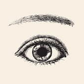 Vector illustration of eye.