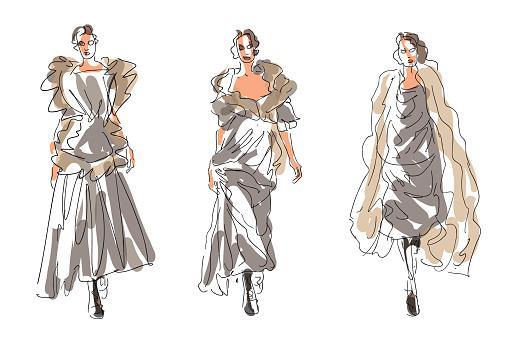 Sketch Fashion Women