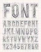 sketch font vector