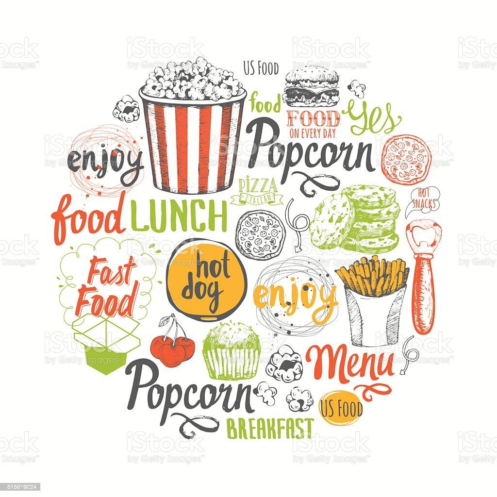 Картинка с едой и надпись по-английский, картинка зубами картинки