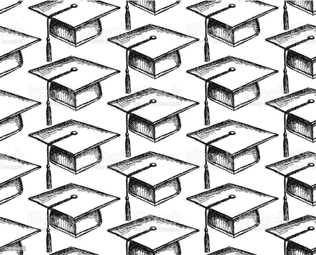 Boceto tapa de graduación - ilustración de arte vectorial