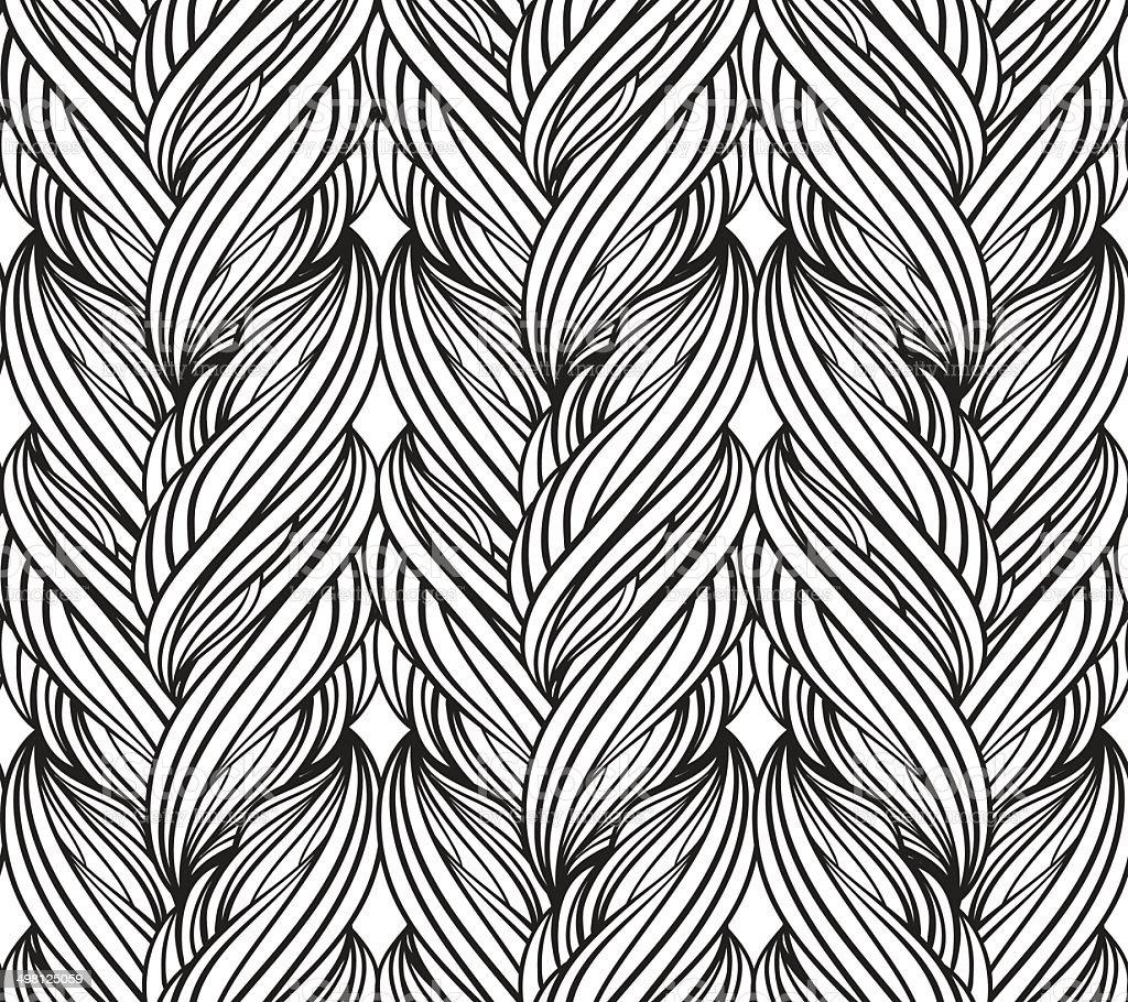 Sketch hand drawn pattern vector art illustration