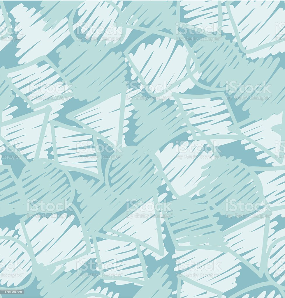 Sketch hand drawn seamless pattern royalty-free stock vector art