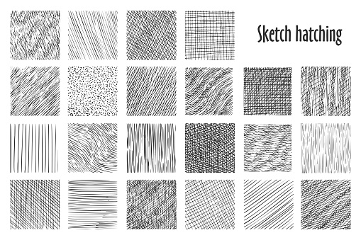 Sketch hatching abstract pattern backgrounds