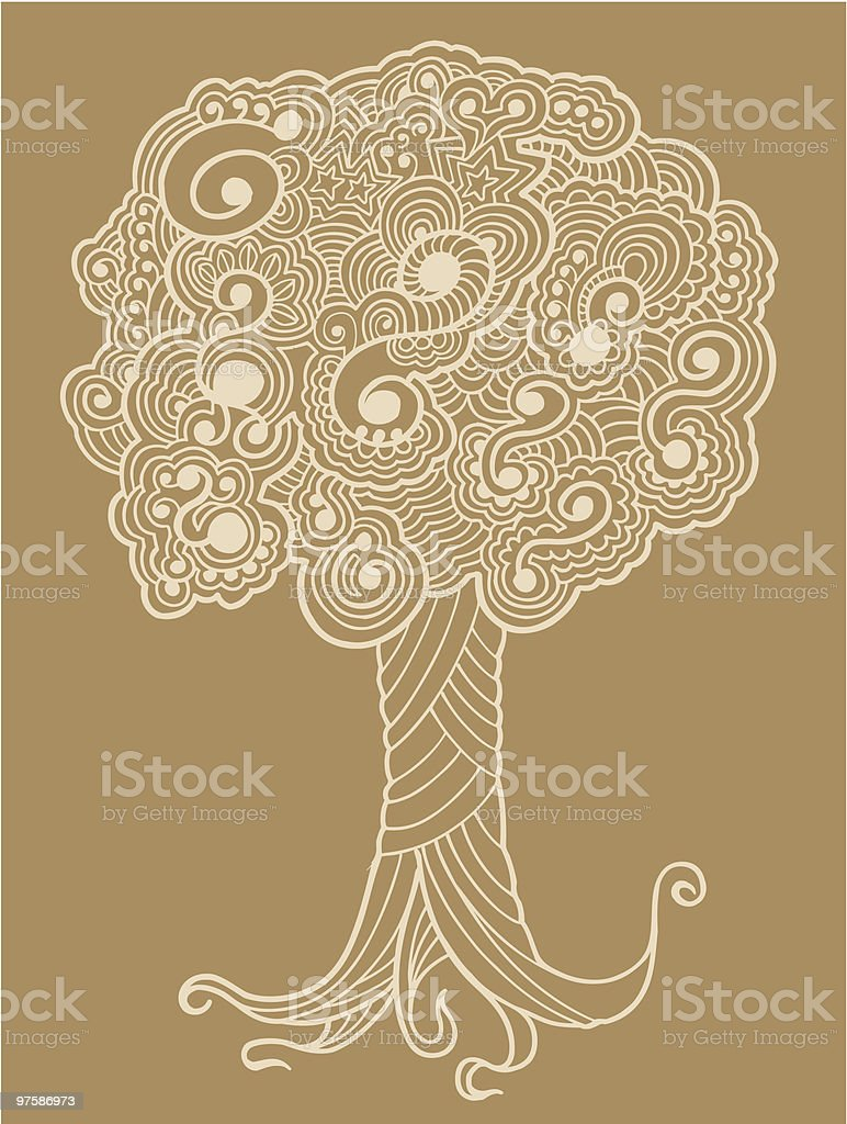 Sketch Henna doodle Tree royalty-free sketch henna doodle tree stock vector art & more images of abstract