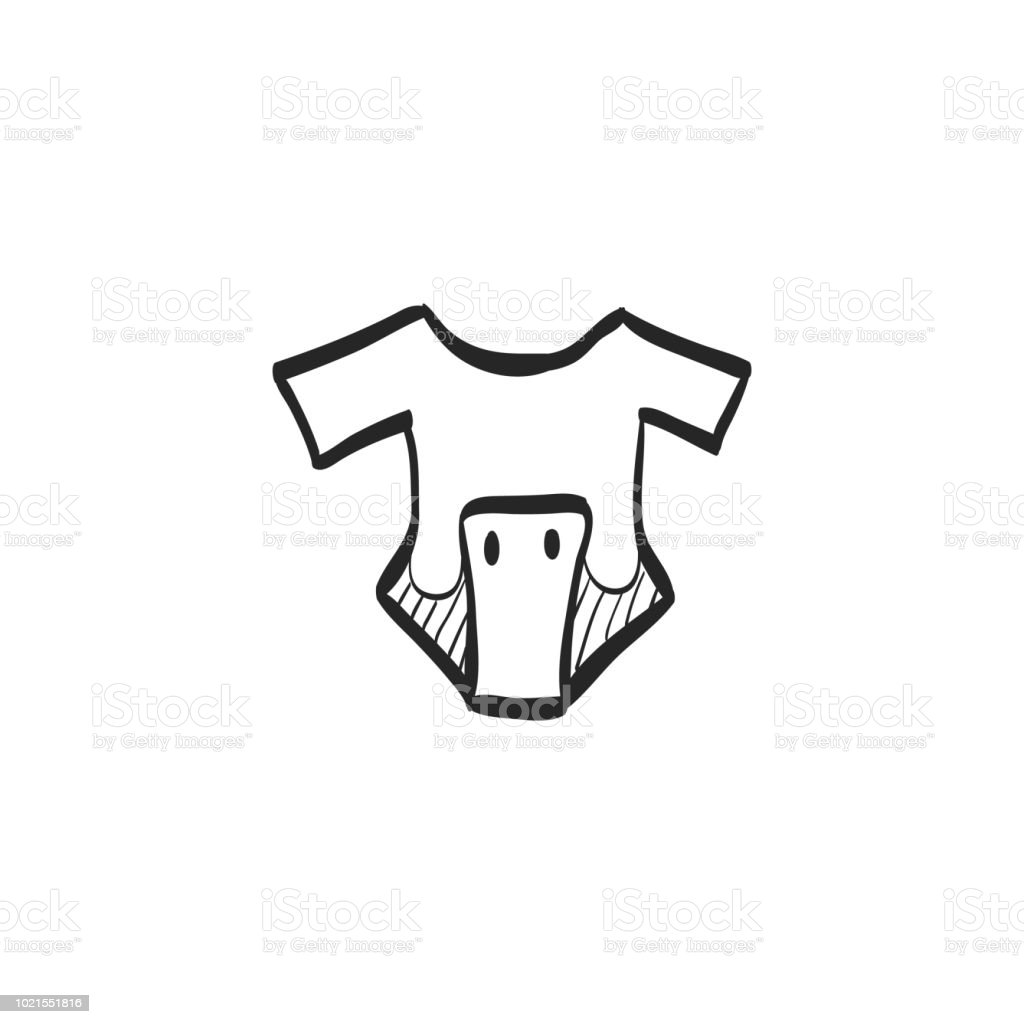 95cfe81f2 Sketch Icon Baby Clothes Stock Vector Art   More Images of Black ...