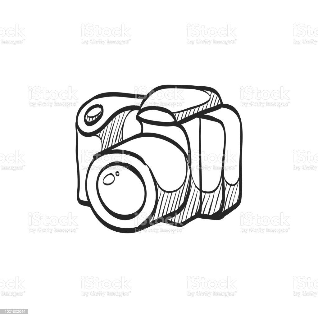Sketch icon digital camera royalty free sketch icon digital camera stock vector art amp