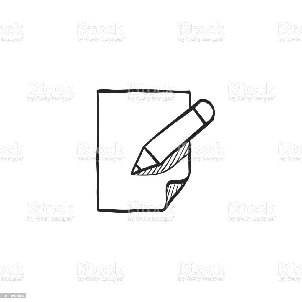 Sketch icon - Document edit