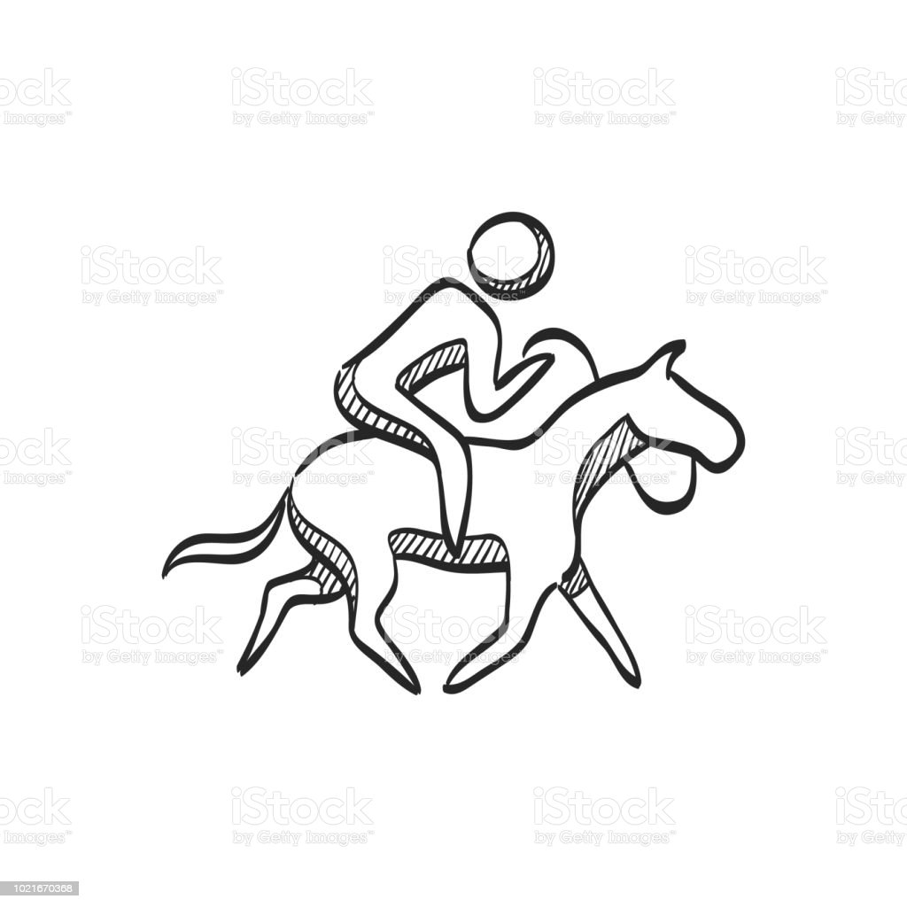 Sketch Icon Horse Riding Stock Illustration Download Image Now Istock