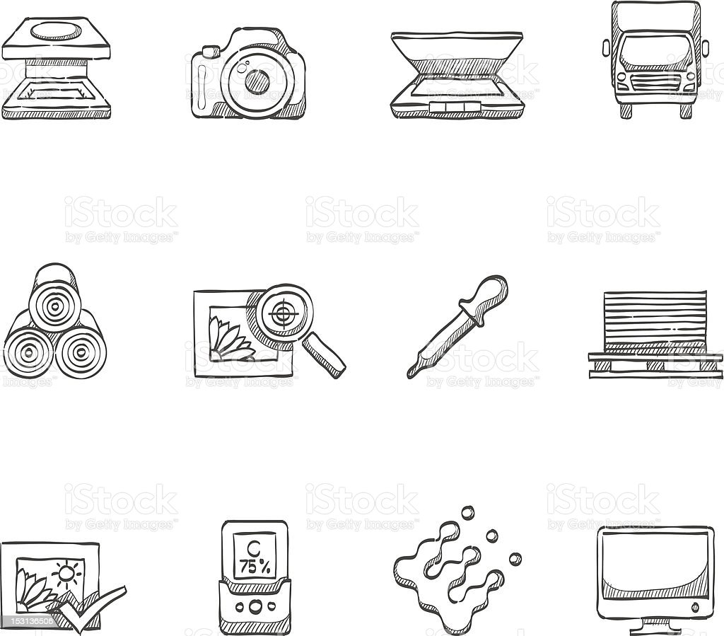 Sketch Icon - More Printing & Graphic Design royalty-free stock vector art