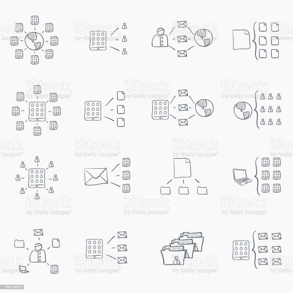Sketch Icon Set royalty-free stock vector art